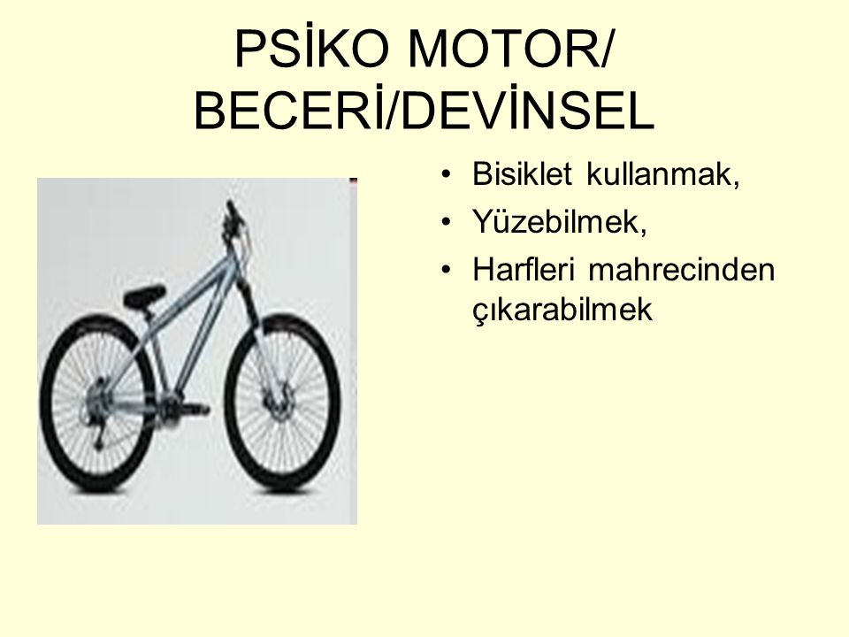 PSİKO MOTOR/ BECERİ/DEVİNSEL