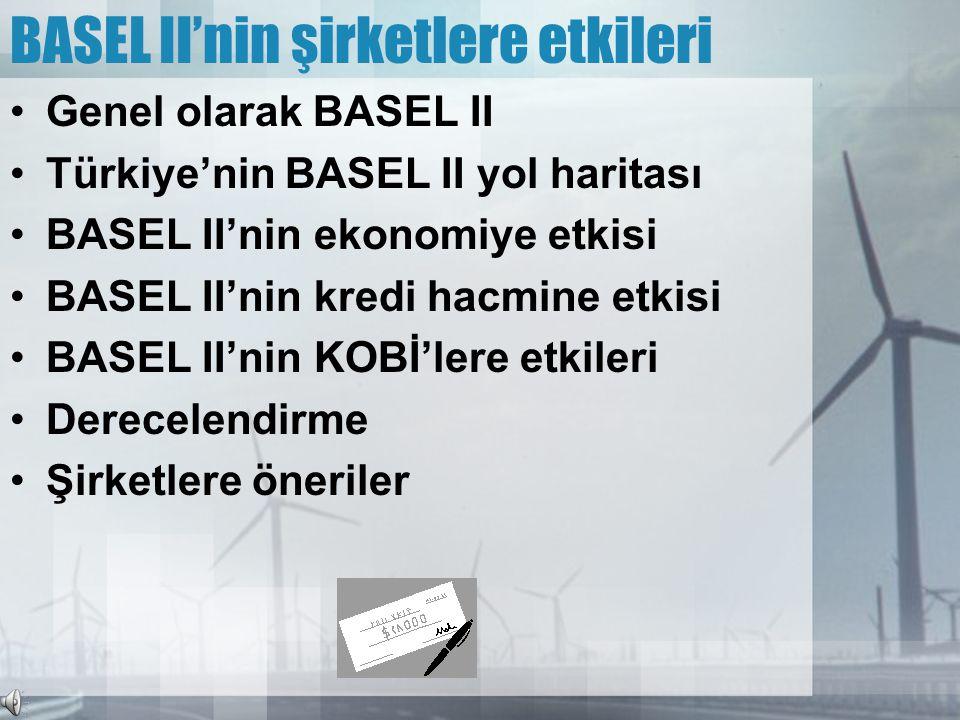 BASEL II'nin şirketlere etkileri