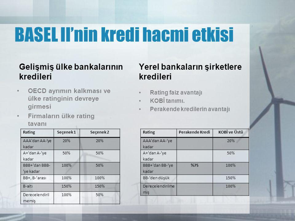 BASEL II'nin kredi hacmi etkisi
