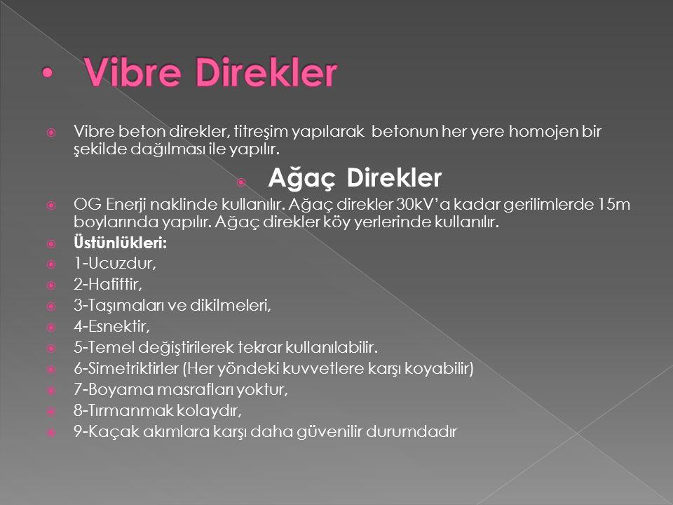 Vibre Direkler Vibre beton direkler, titreşim yapılarak betonun her yere homojen bir şekilde dağılması ile yapılır.
