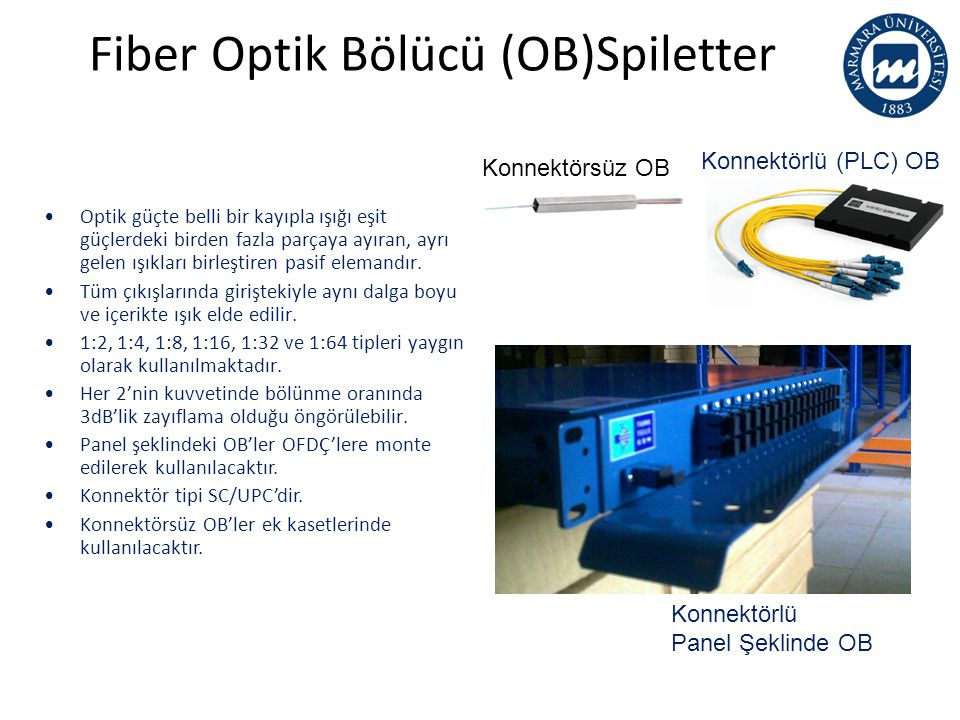Fiber Optik Bölücü (OB)Spiletter