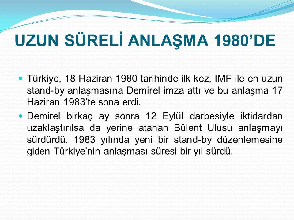 UZUN SÜRELİ ANLAŞMA 1980'DE
