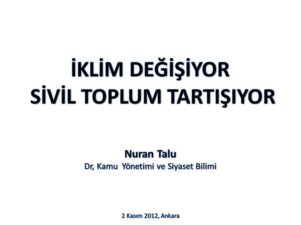 Nuran Talu Dr, Kamu Yönetimi ve Siyaset Bilimi 2 Kasım 2012, Ankara