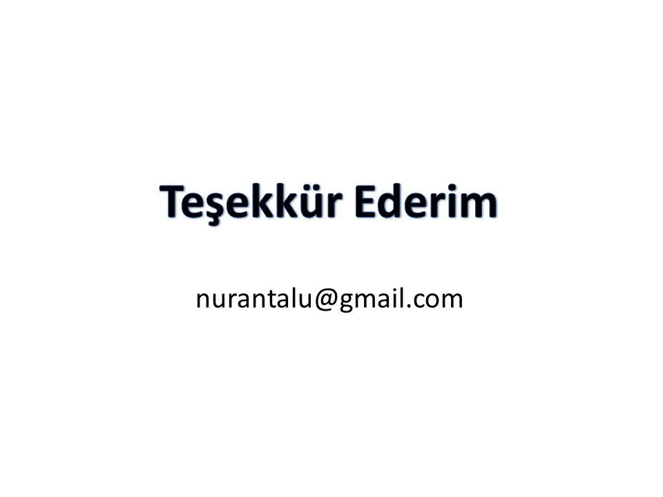 Teşekkür Ederim nurantalu@gmail.com