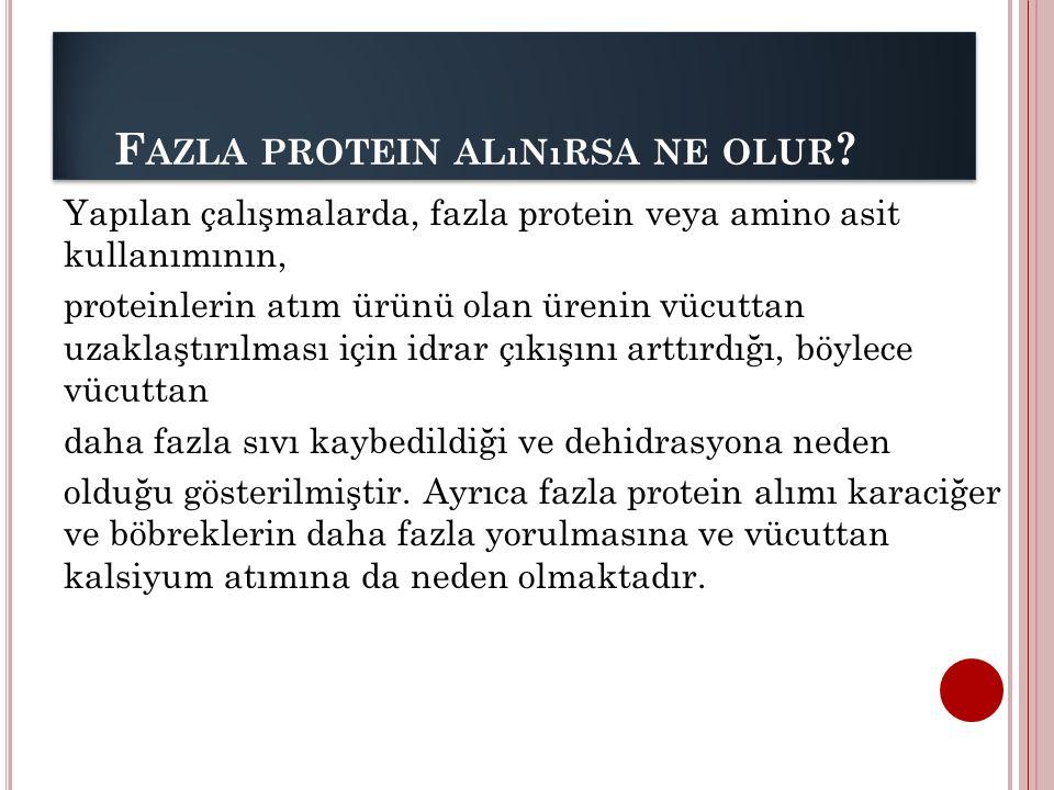 Fazla protein alınırsa ne olur