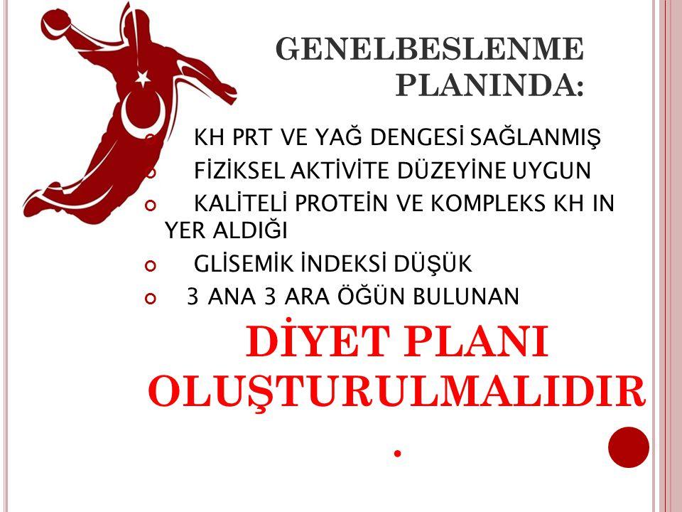 GENELBESLENME PLANINDA: