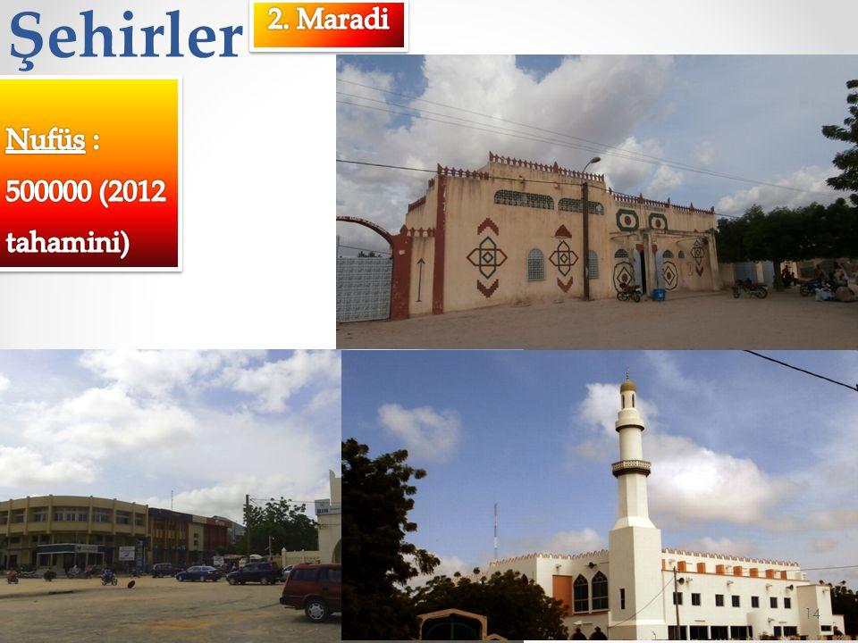 Şehirler 2. Maradi Nufüs : 500000 (2012 tahamini)