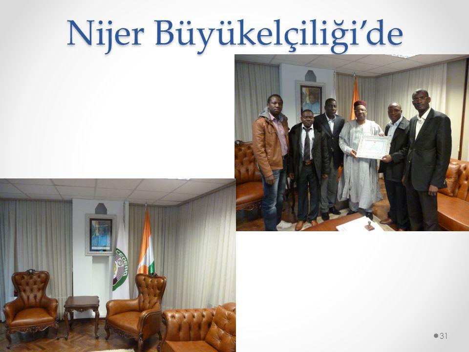 Nijer Büyükelçiliği'de