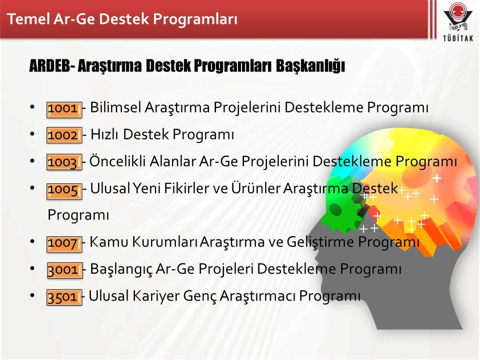 Temel Ar-Ge Destek Programları
