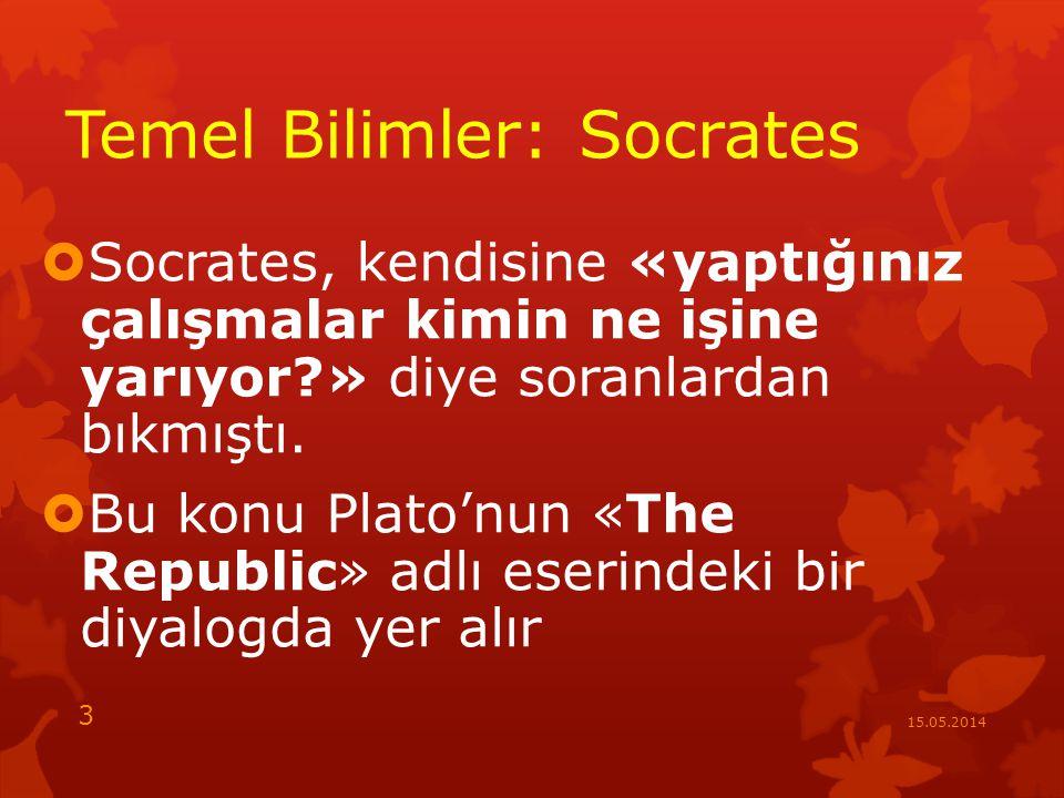 Temel Bilimler: Socrates