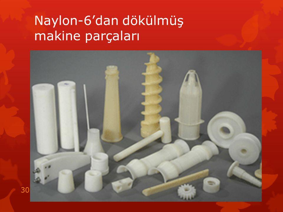 Naylon-6'dan dökülmüş makine parçaları