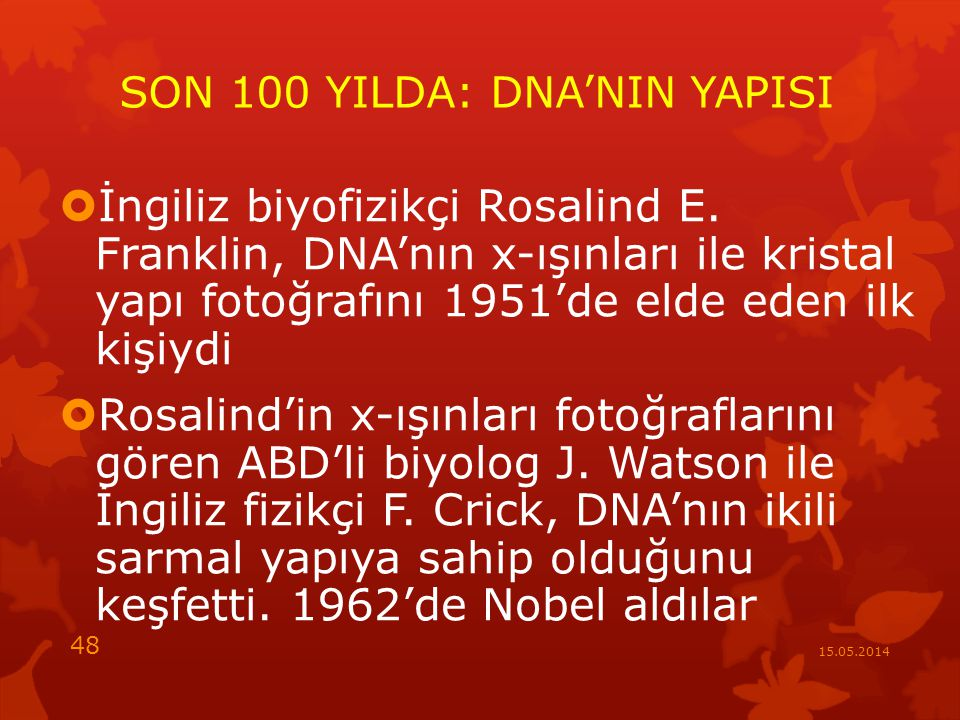 SON 100 YILDA: DNA'NIN YAPISI