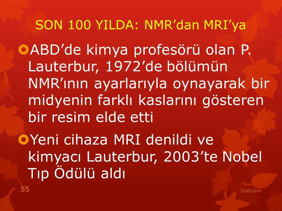 SON 100 YILDA: NMR'dan MRI'ya