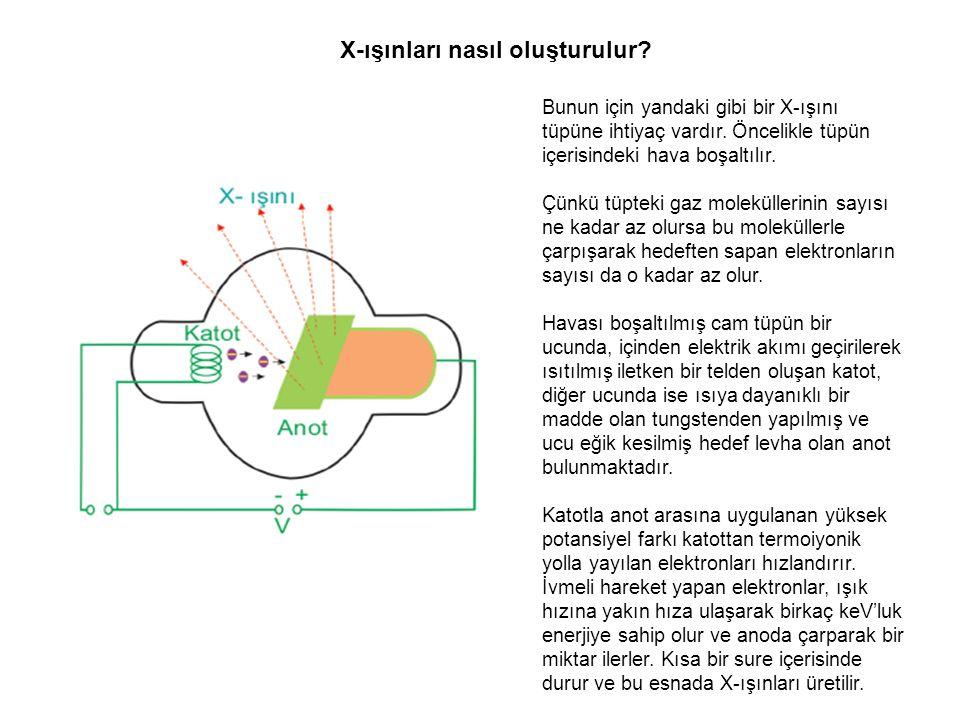 X-ışınları nasıl oluşturulur