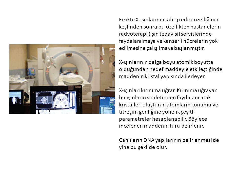 Fizikte X-ışınlarının tahrip edici özelliğinin