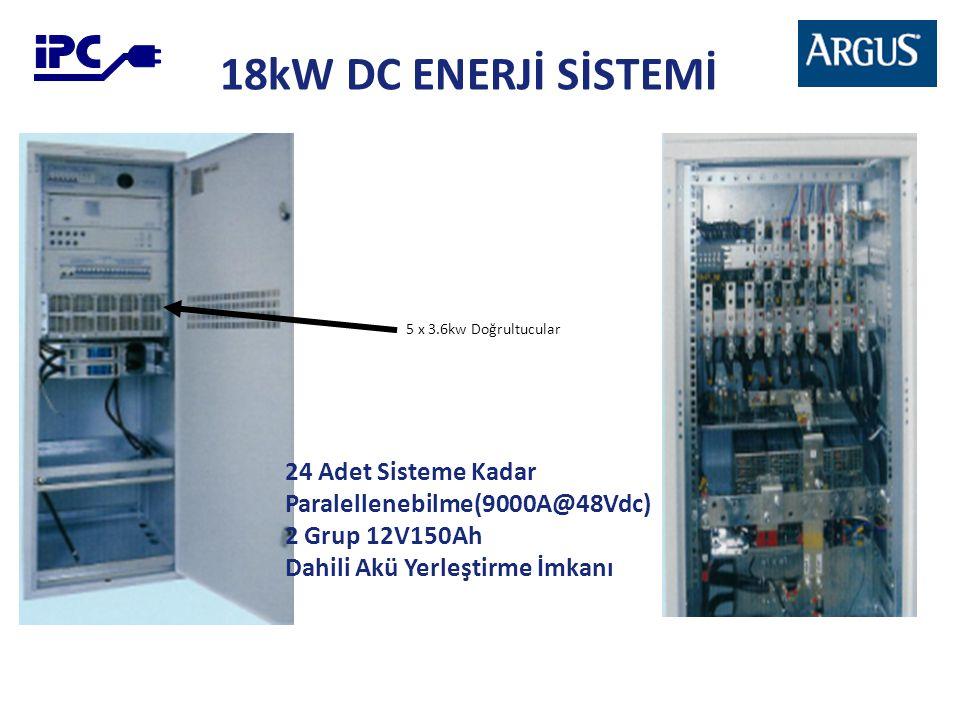 18kW DC ENERJİ SİSTEMİ 24 Adet Sisteme Kadar