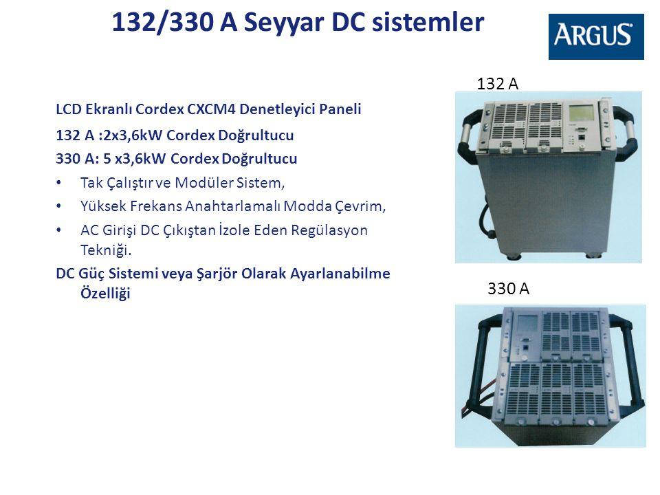 132/330 A Seyyar DC sistemler 132 A 330 A