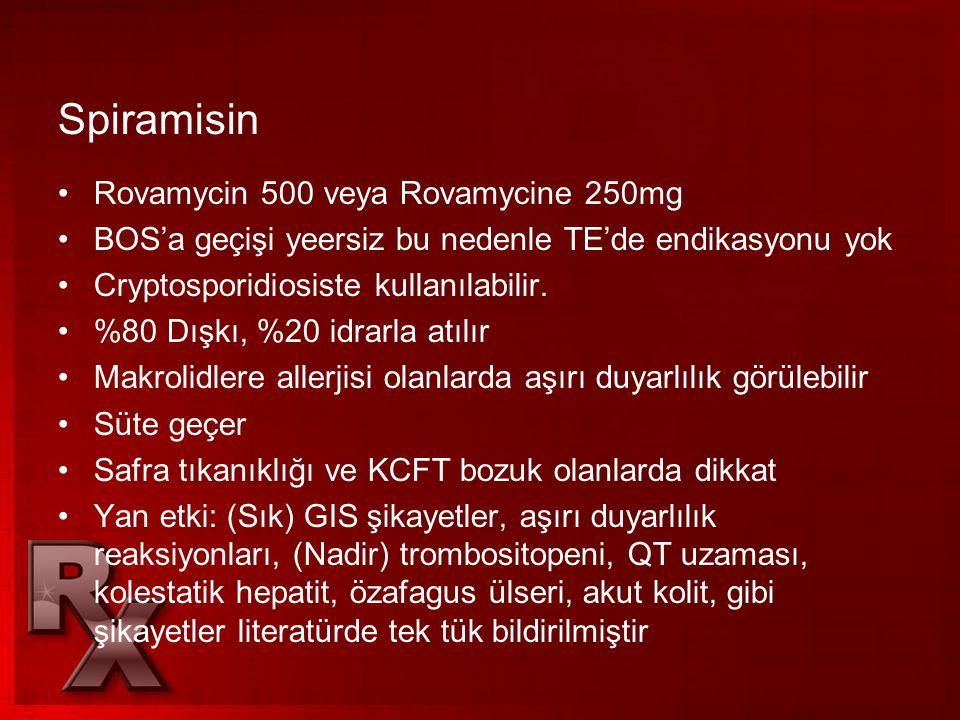 Spiramisin Rovamycin 500 veya Rovamycine 250mg