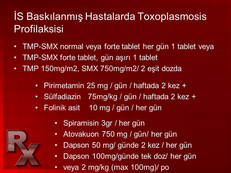 İS Baskılanmış Hastalarda Toxoplasmosis Profilaksisi
