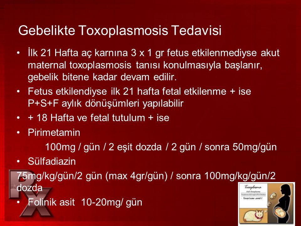 Gebelikte Toxoplasmosis Tedavisi