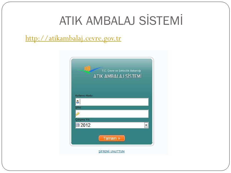 ATIK AMBALAJ SİSTEMİ http://atikambalaj.cevre.gov.tr