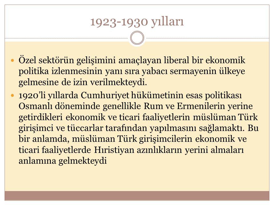 1923-1930 yılları