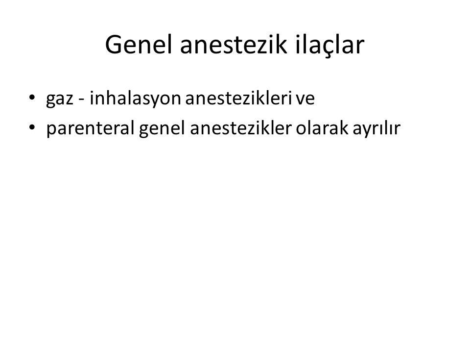 Genel anestezik ilaçlar