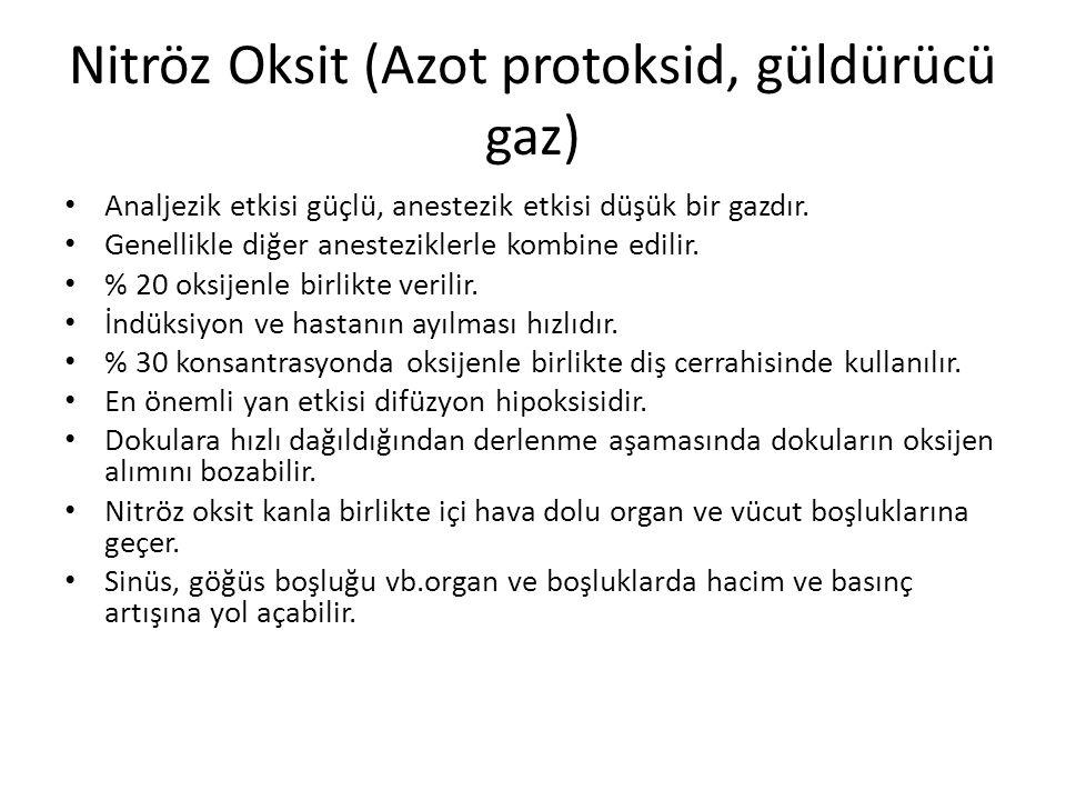 Nitröz Oksit (Azot protoksid, güldürücü gaz)