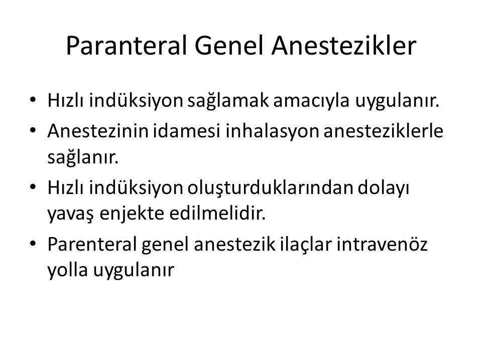 Paranteral Genel Anestezikler