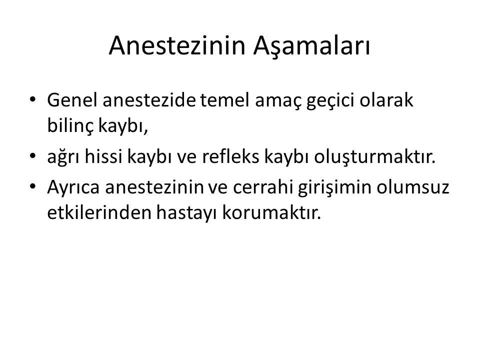 Anestezinin Aşamaları