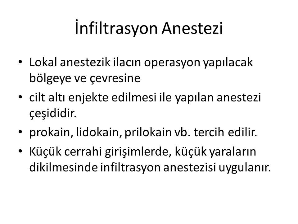 İnfiltrasyon Anestezi