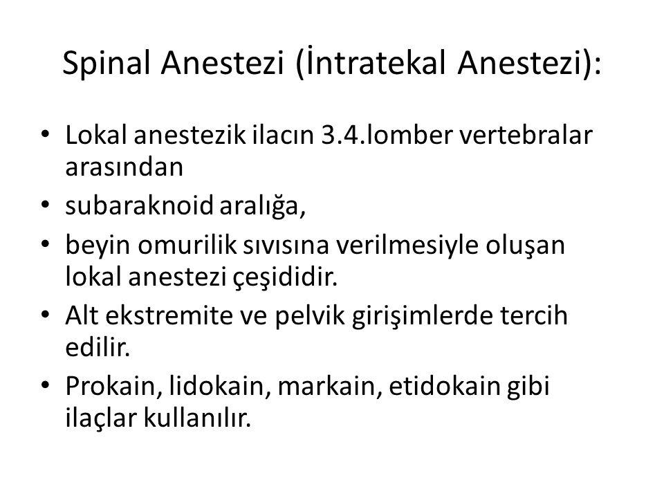 Spinal Anestezi (İntratekal Anestezi):