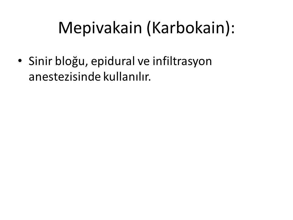 Mepivakain (Karbokain):