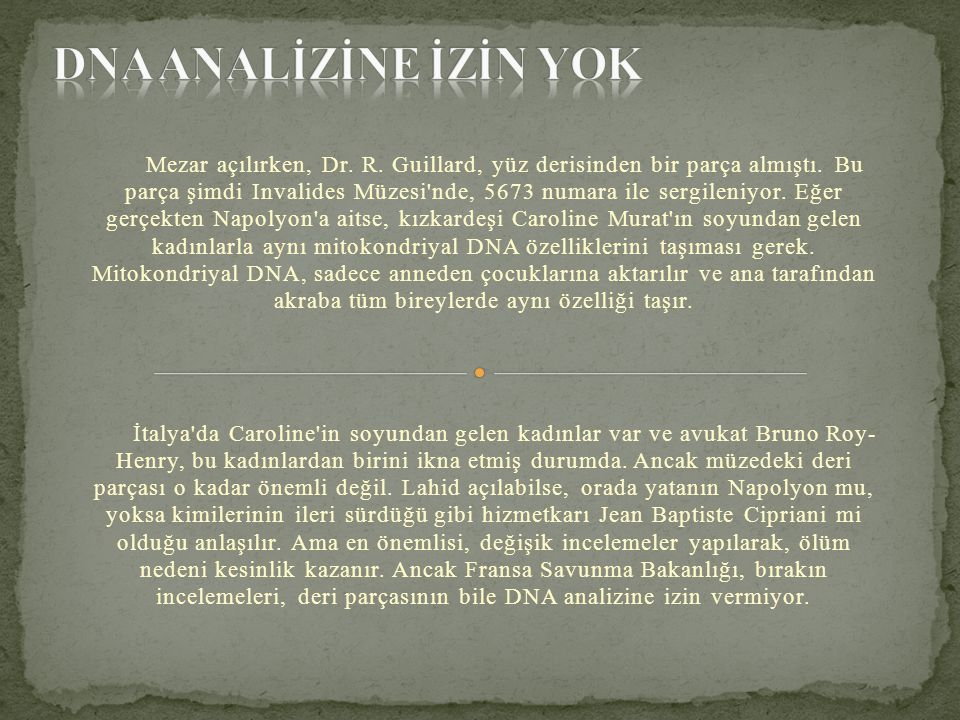 DNA ANALİZİNE İZİN YOK