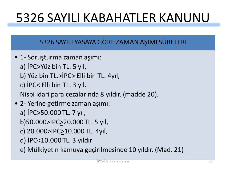 5326 SAYILI KABAHATLER KANUNU
