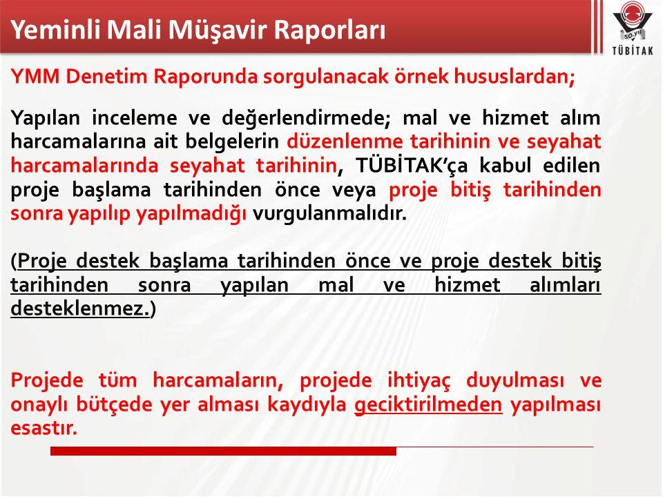 Yeminli Mali Müşavir Raporları