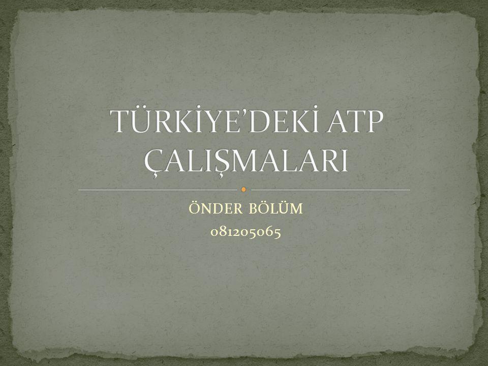 TÜRKİYE'DEKİ ATP ÇALIŞMALARI