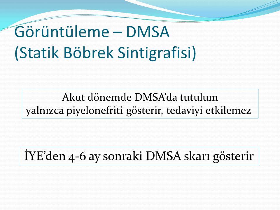 Görüntüleme – DMSA (Statik Böbrek Sintigrafisi)