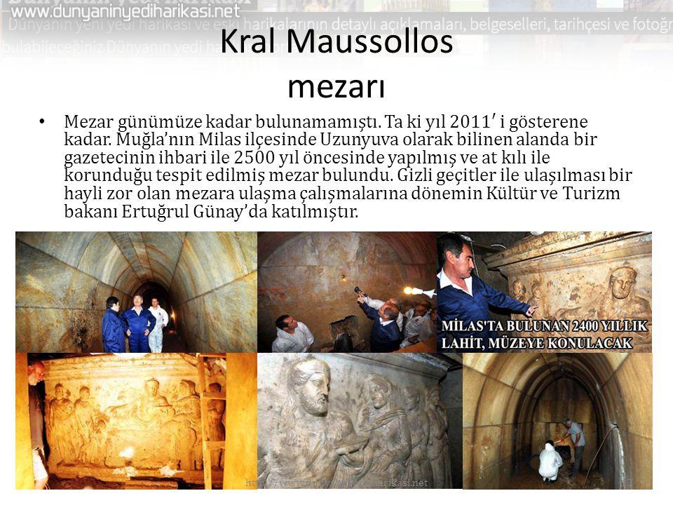 Kral Maussollos mezarı