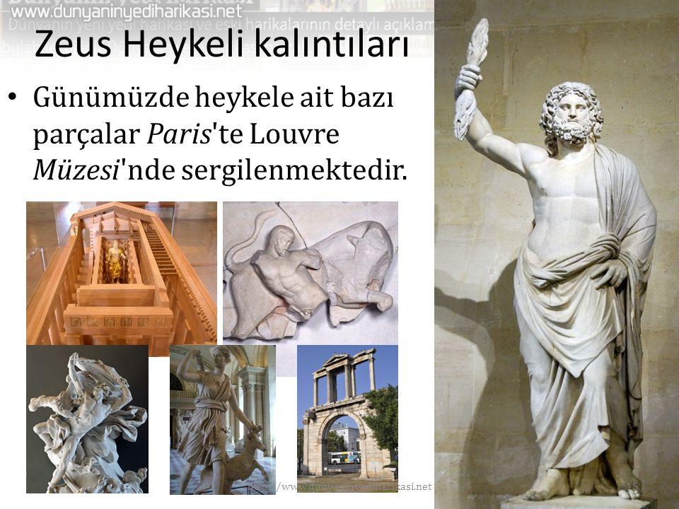 Zeus Heykeli kalıntıları