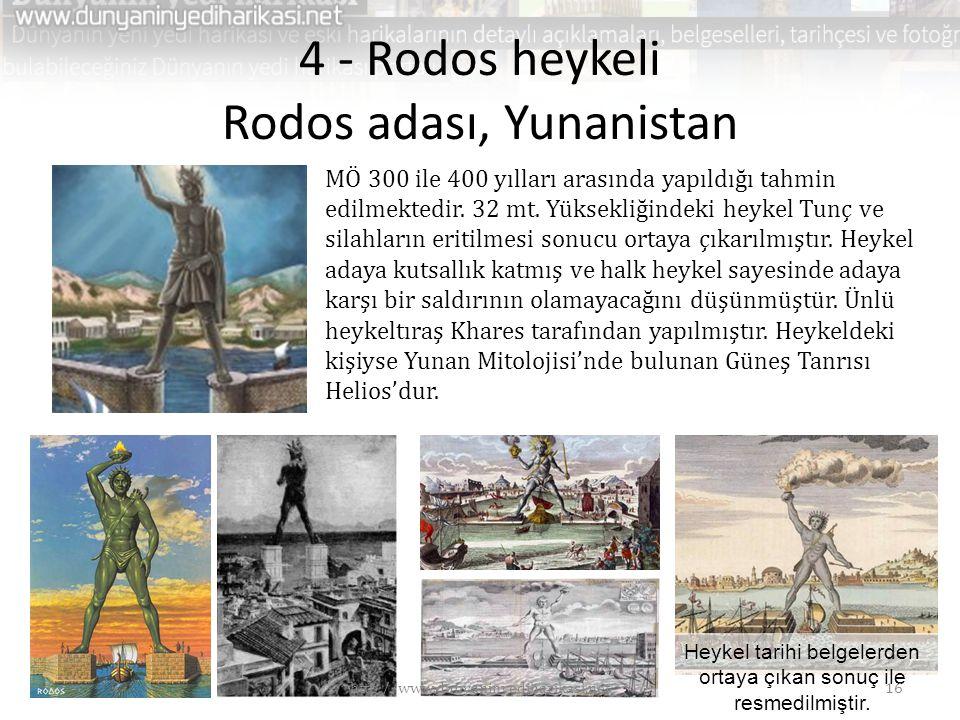 4 - Rodos heykeli Rodos adası, Yunanistan