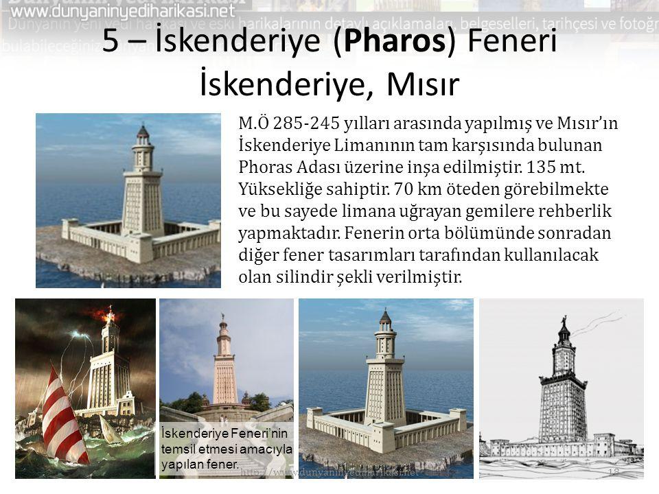 5 – İskenderiye (Pharos) Feneri İskenderiye, Mısır