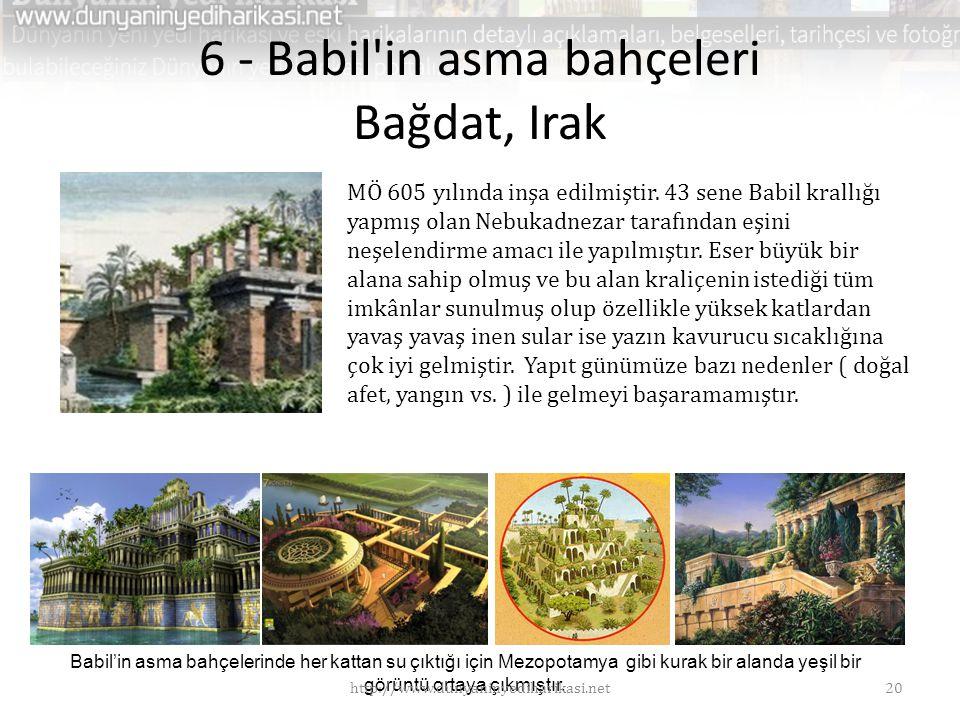 6 - Babil in asma bahçeleri Bağdat, Irak