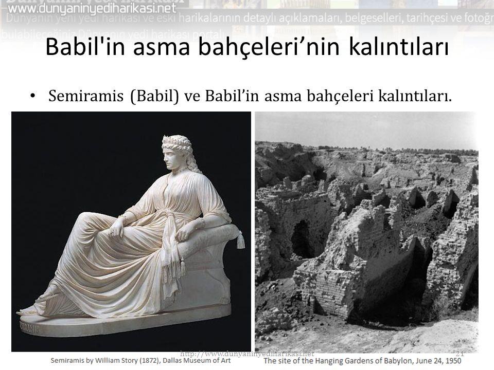 Babil in asma bahçeleri'nin kalıntıları