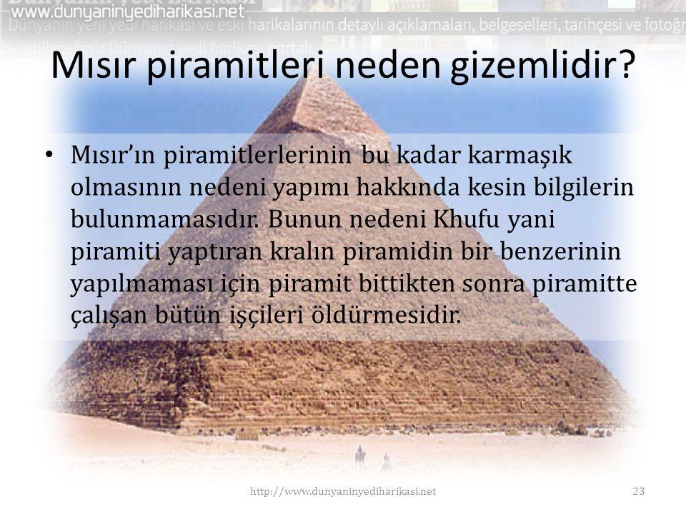 Mısır piramitleri neden gizemlidir