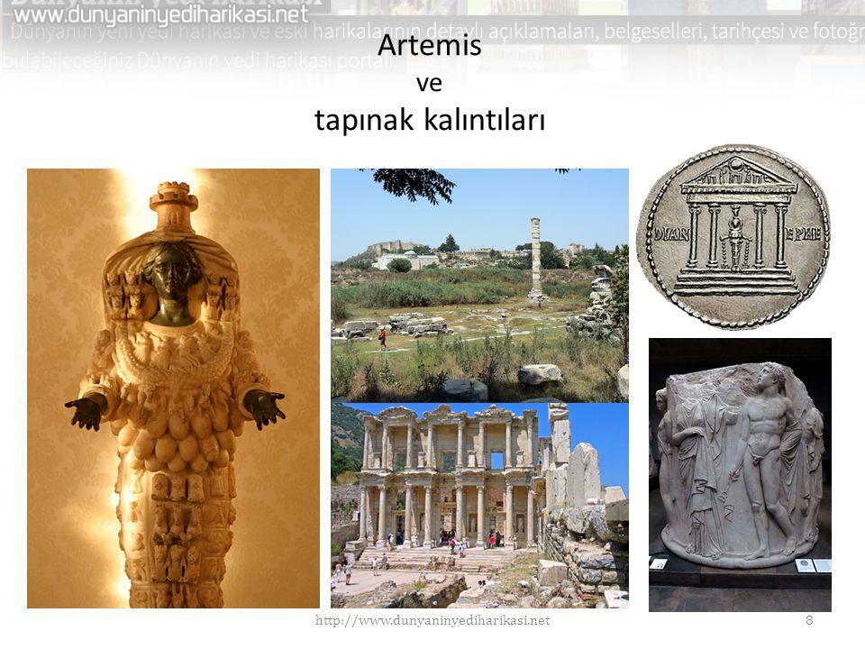 Artemis ve tapınak kalıntıları