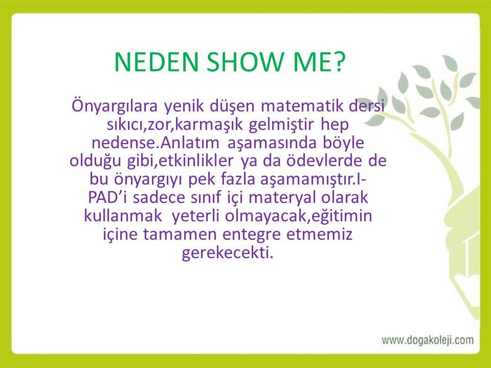 NEDEN SHOW ME
