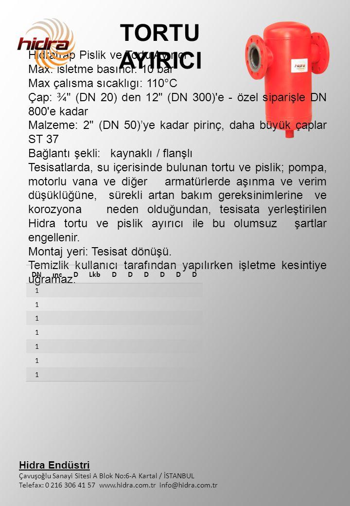 TORTU AYIRICI Hidratrap Pislik ve Tortu Ayırıcı