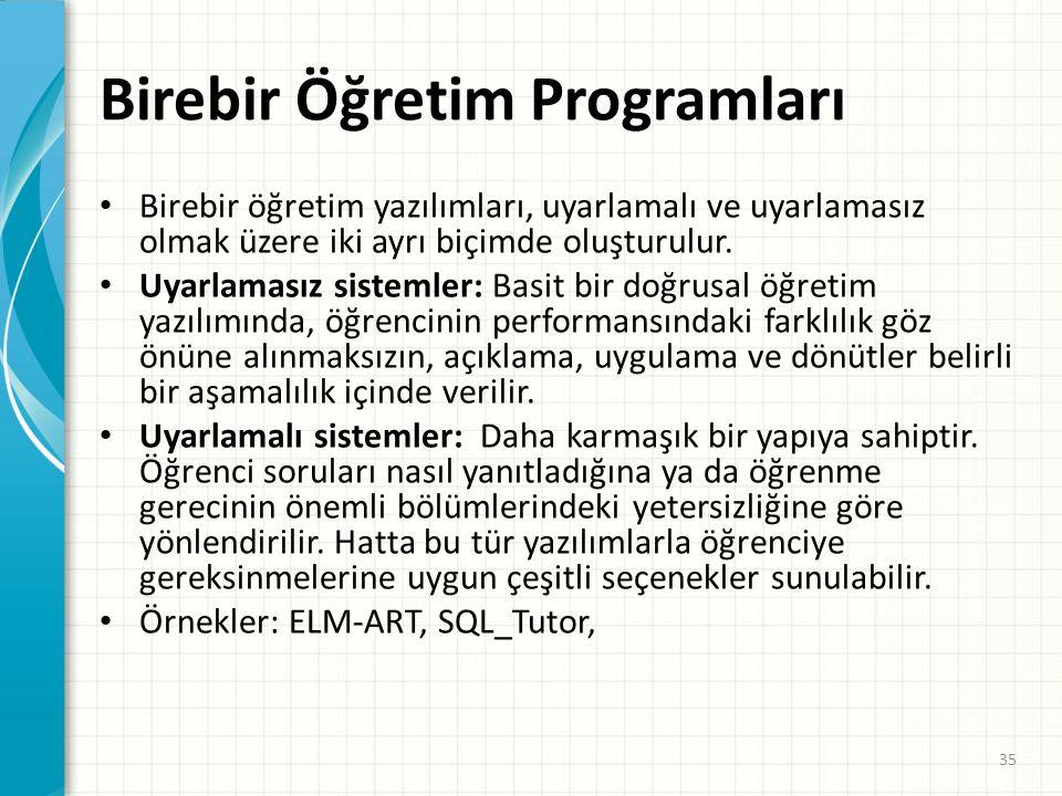 Birebir Öğretim Programları