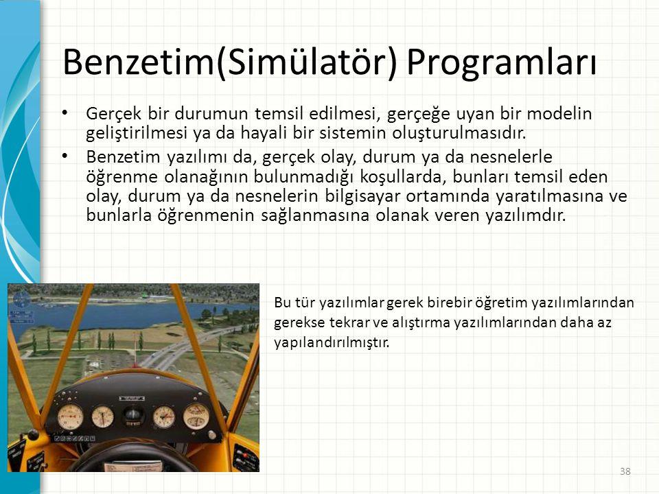 Benzetim(Simülatör) Programları